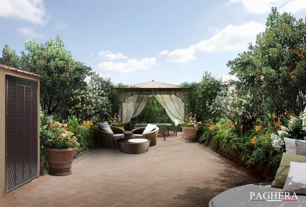 La splendida terrazza rustica a firenze il nuovo progetto for Giardini sui terrazzi