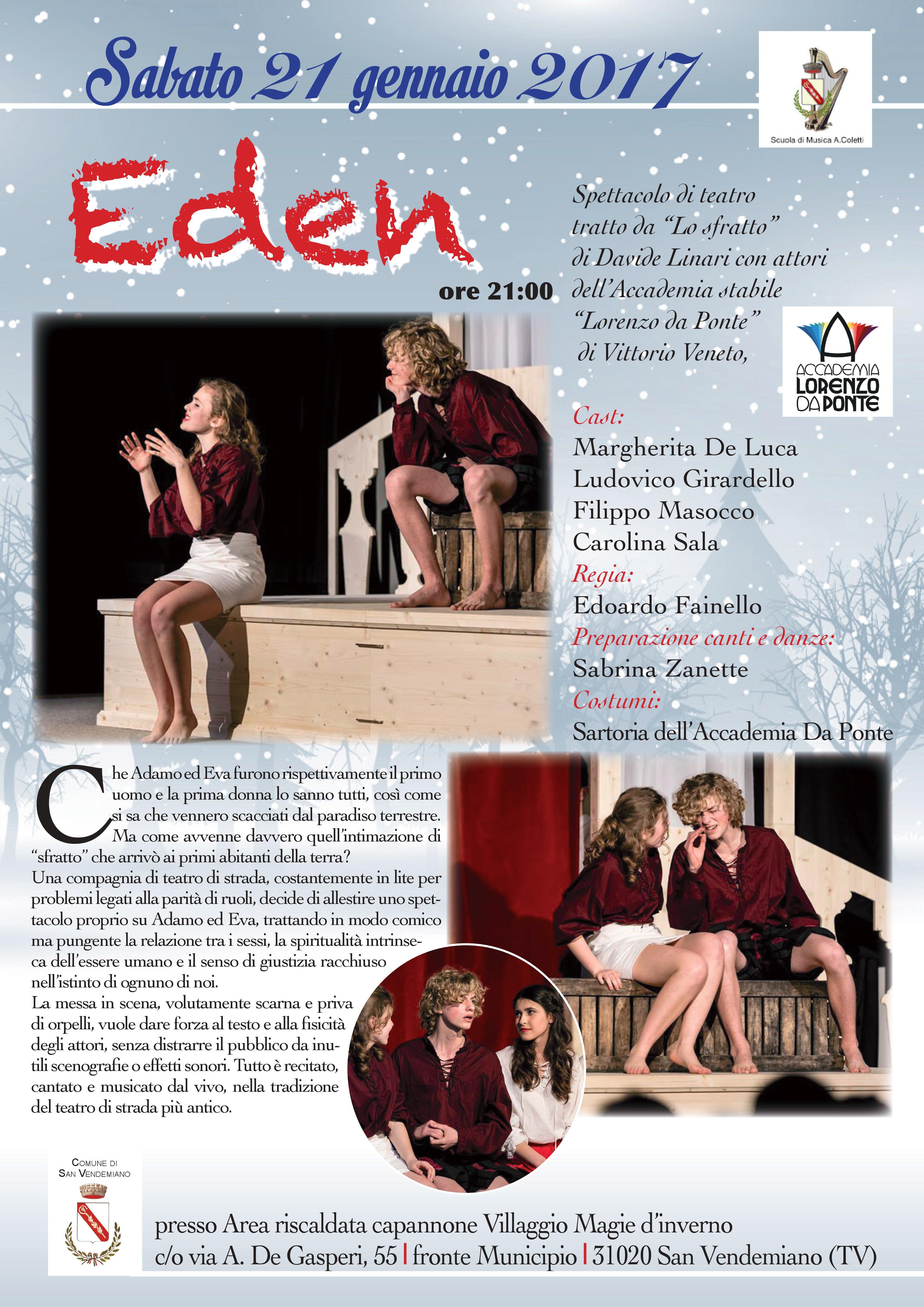 """""""EDEN"""" IN SCENA A SAN VENEDEMIANO (TV)"""