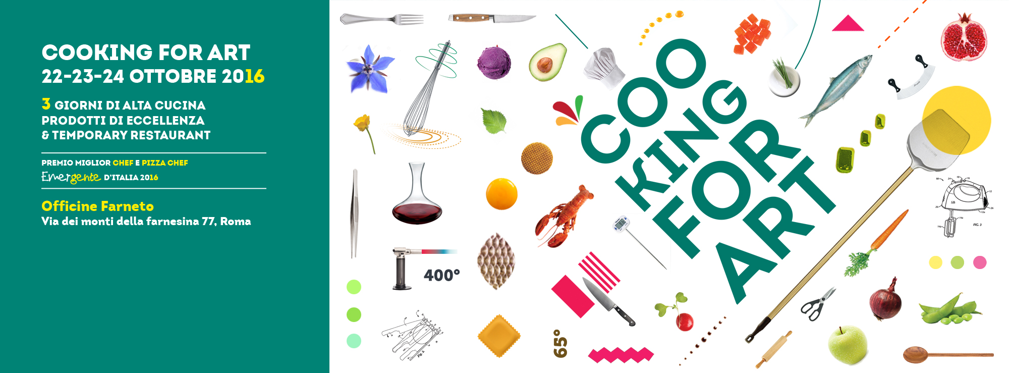 Cooking for Art, chef e pizza chef Emergente d'Italia 2016 (22-23-24 Ottobre, Roma). Il Mercato Cittadino