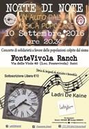 Notte di Note: un aiuto dalla musica popolare per le popolazioni colpite dal sisma - Sabato 10 settembre 2016 alle ore 20.30