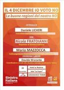 Referendum. Martedì 29 Novembre a Caramanico Terme incontro dibattito di Sinistra Italiana sulle Ragioni del No