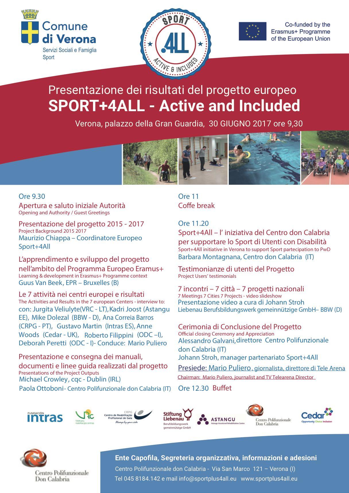 Presentazione dei risultati del progetto europeo Sport + 4 All – Active and Included