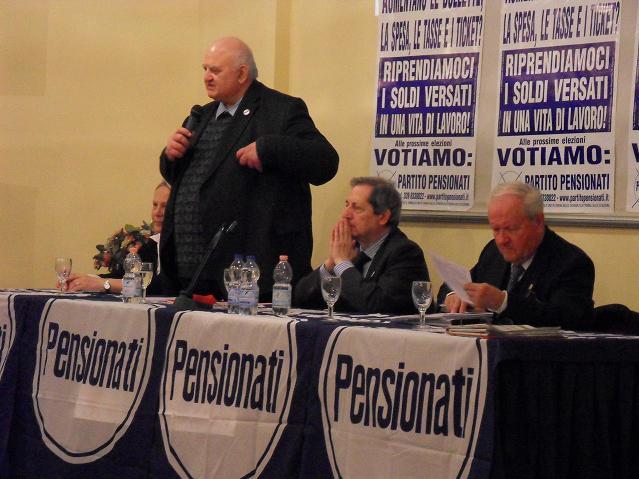 """""""PENSIONATI: PROTAGONISTI NON COMPARSE"""" - CONVEGNO DEL PARTITO PENSIONATI A PORDENONE"""