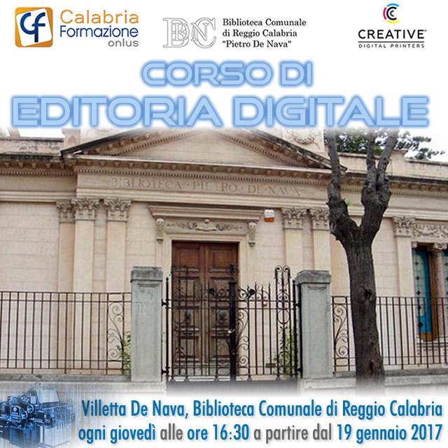 Al via il Corso di Editoria Digitale di Calabria Formazione