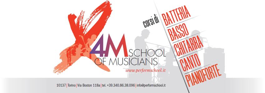 X4M – Perform School of musicians, il centro di formazione musicale di Torino apre l'anno accademico 2017/18