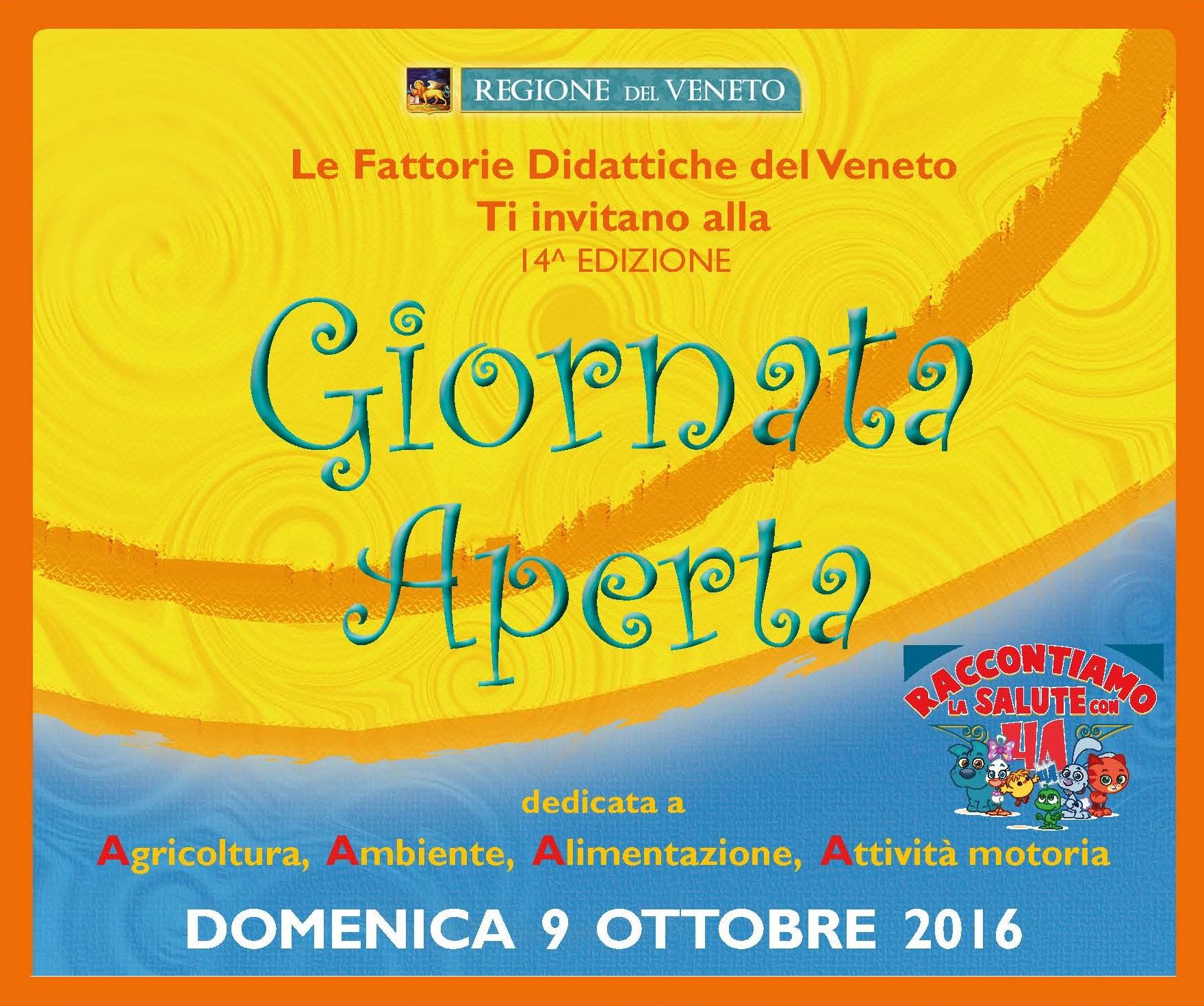 Tornano le Fattorie Didattiche Aperte in Veneto domenica 9 ottobre