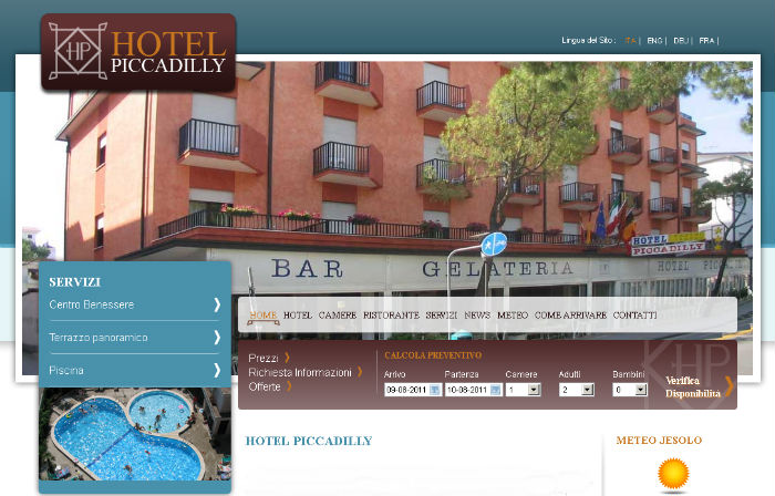 Hotel Piccadilly di Jesolo si rinnova sul web grazie a MM ONE Group