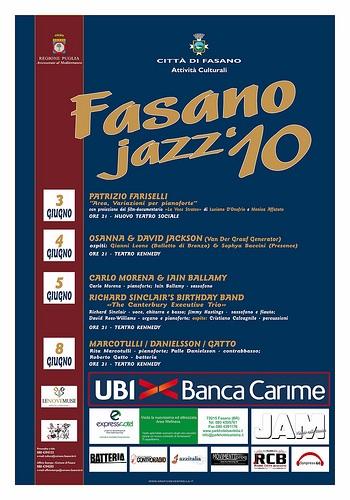 Gli Area al pianoforte: Patrizio Fariselli apre il Fasano Jazz 2010!