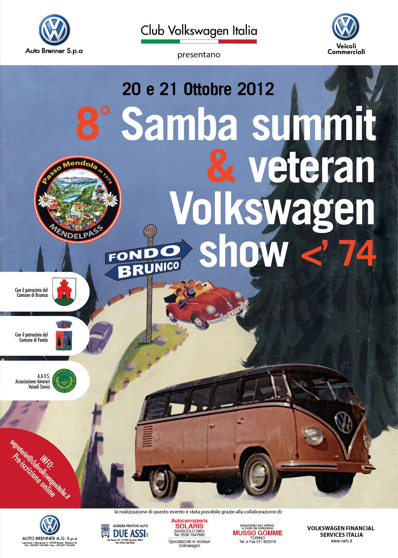 8° Samba Summit sul Passo della Mendola