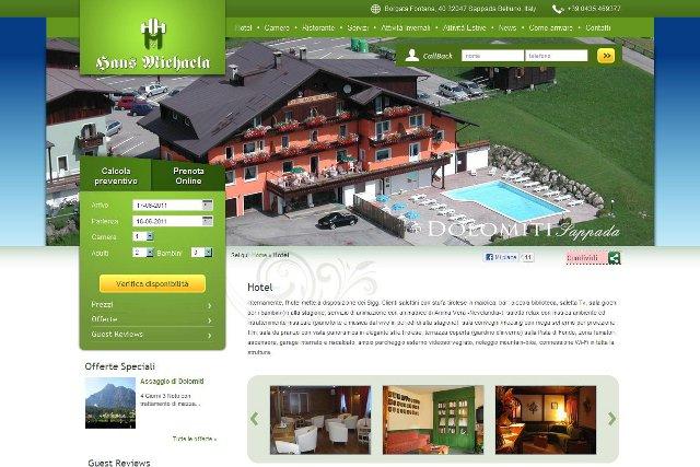Online il nuovo sito per l'Hotel Michaela di Sappada