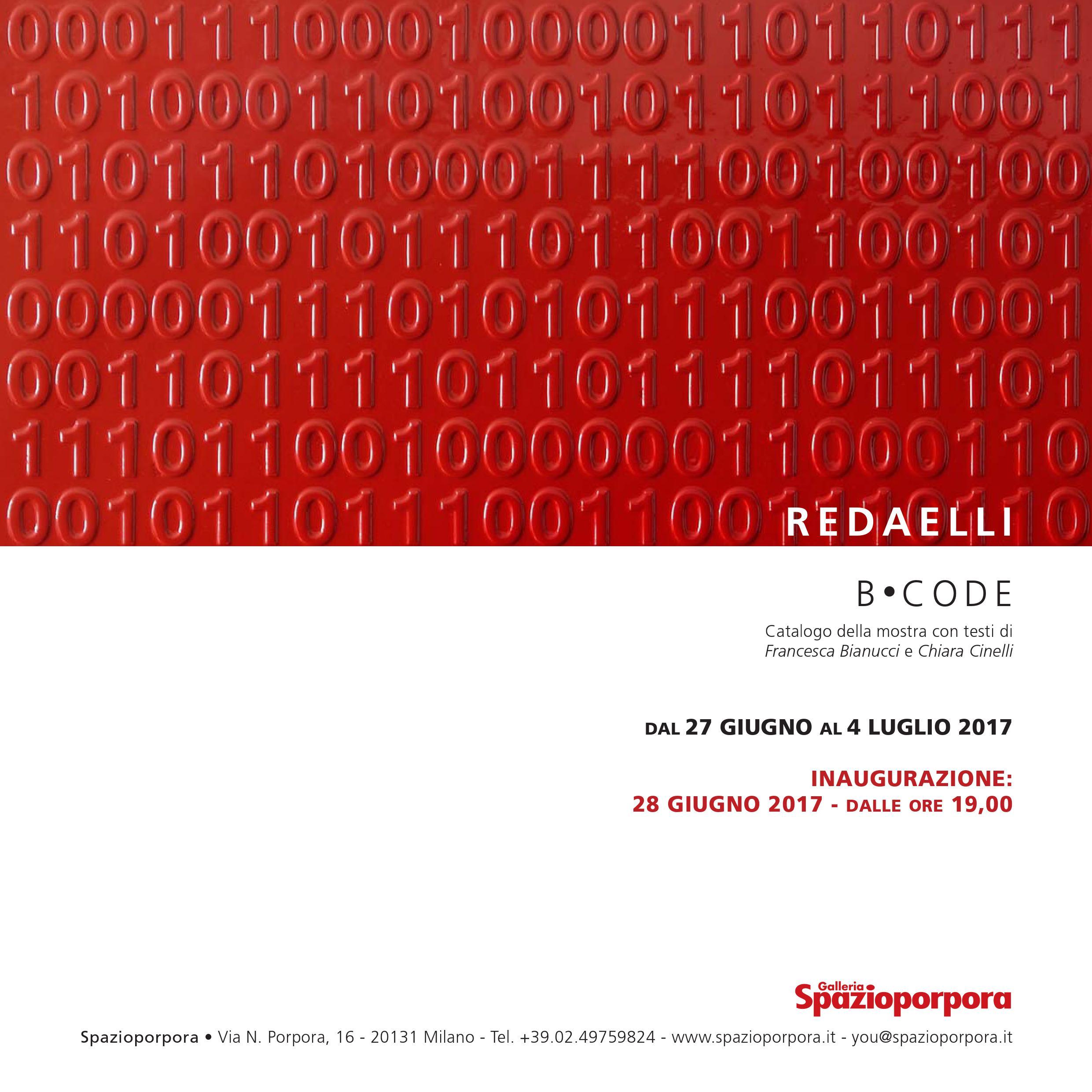 """""""B.CODE"""" - mostra personale di Giordano Redaelli"""