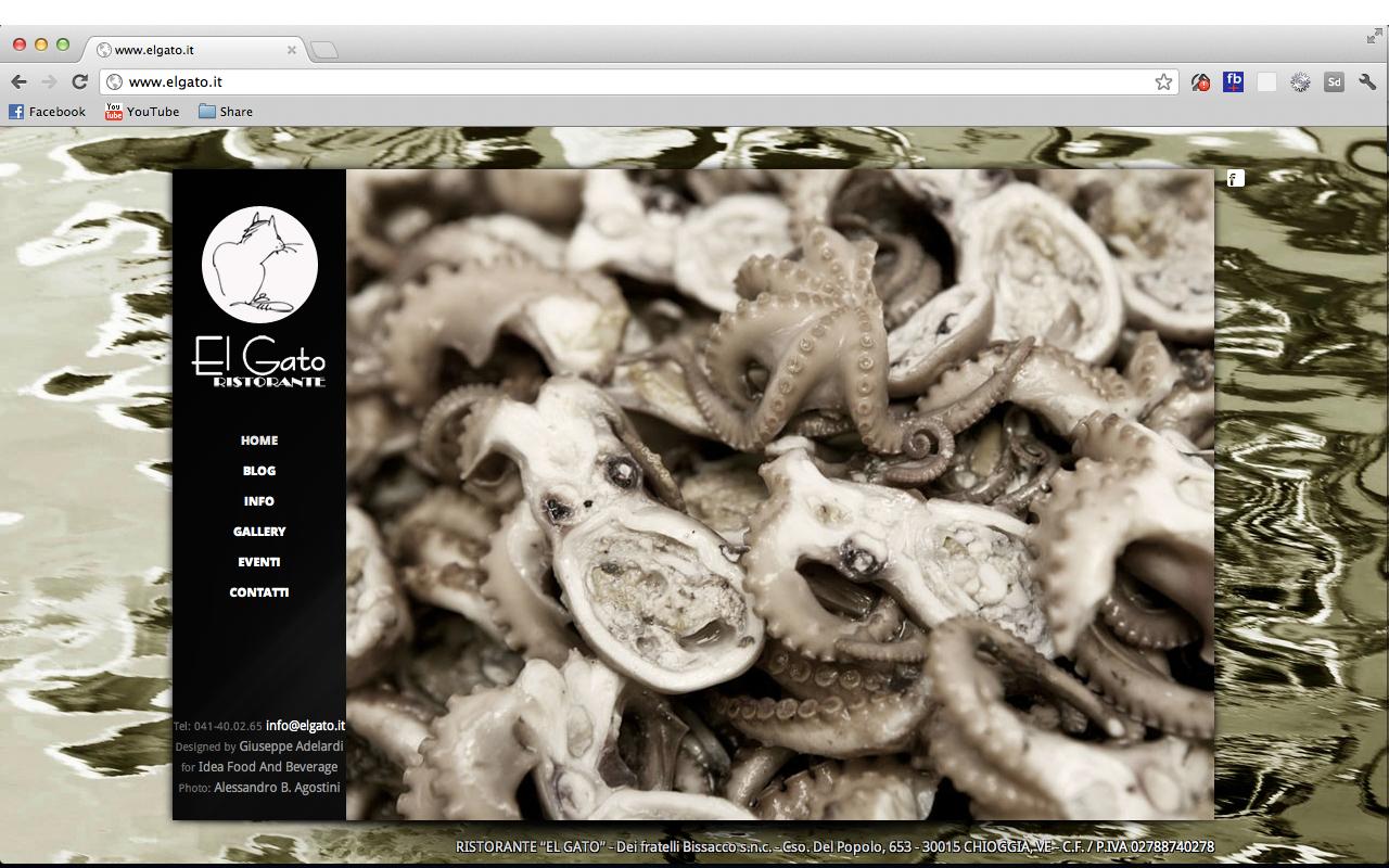 Il Ristorante El Gato, sito in Corso del Popolo a Chioggia, cambia immagine nel Web