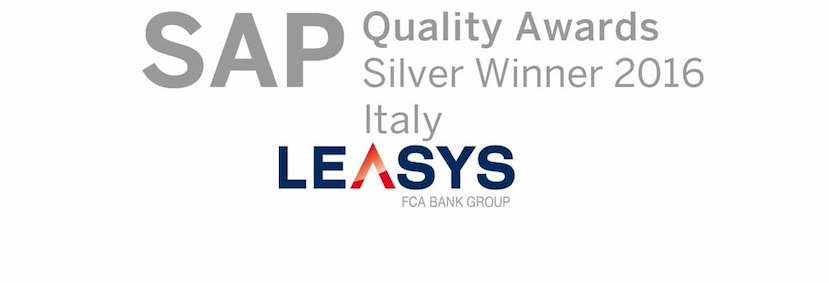 Leasys vince il premio ai Silver SAP Quality Awards 2016