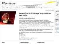 Premio Ernst & Young L'Imprenditore dell'Anno 2008: + 11,5% le candidature rispetto al 2007