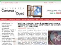 Politica, Clemenza e Dignità: 150 anni Unità d'Italia possono trovare grande significato in clima politico di intesa e collaborazione.