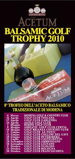 ACETUM BALSAMIC GOLF TROPHY 2010 - Golf & Food conquista Milano