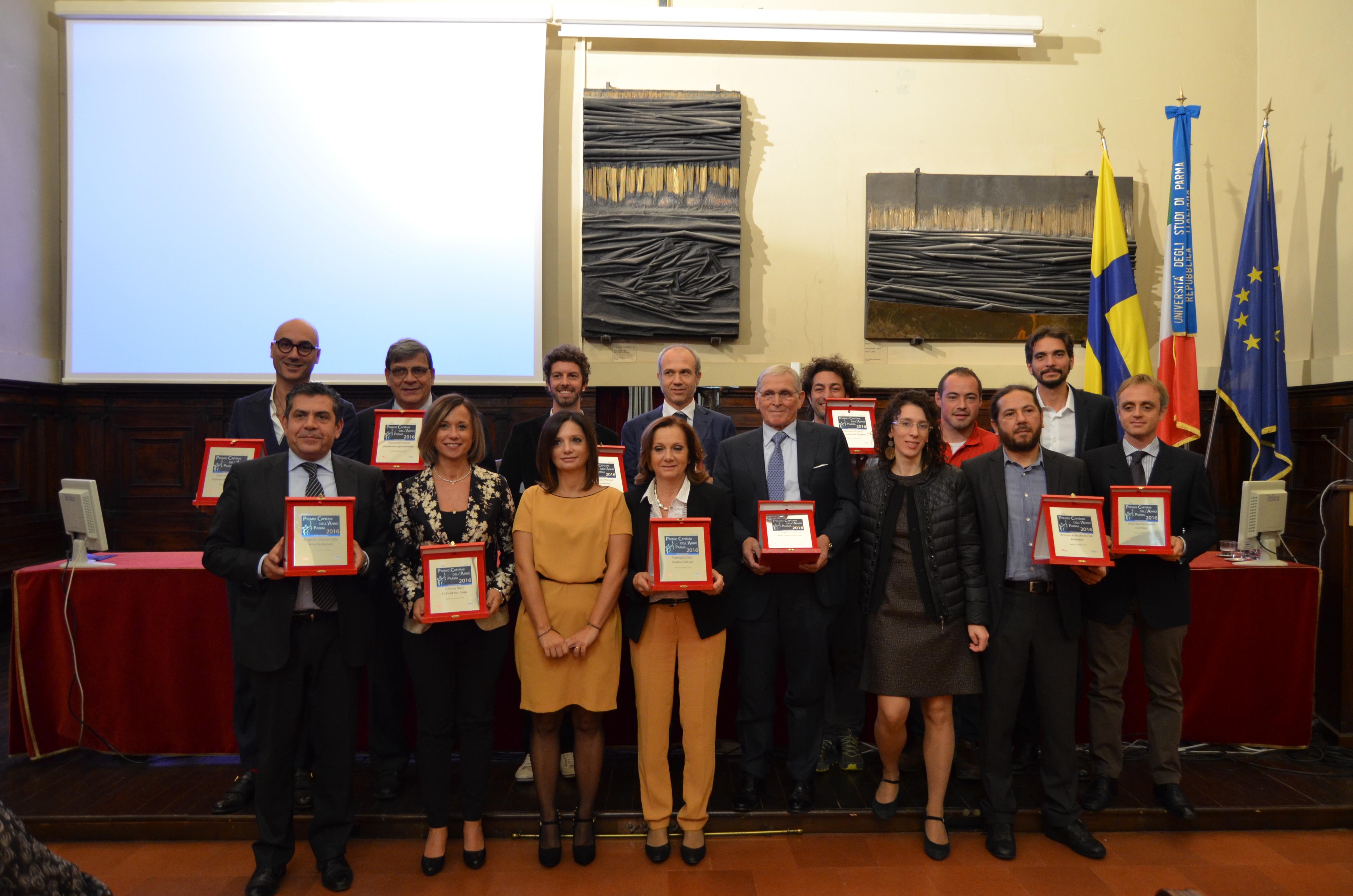 Parma, successo pieno per la prima edizione di Capitani dell'Anno Food & Benessere