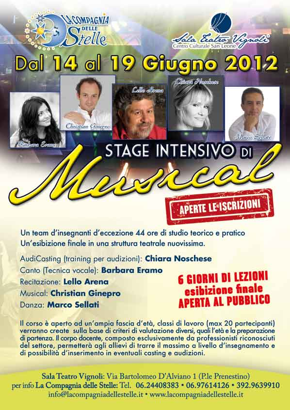 Stage Intensivo di Musical