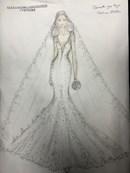 In esclusiva l'abito da sposa di Martina Stella creato da Alessandro Angelozzi