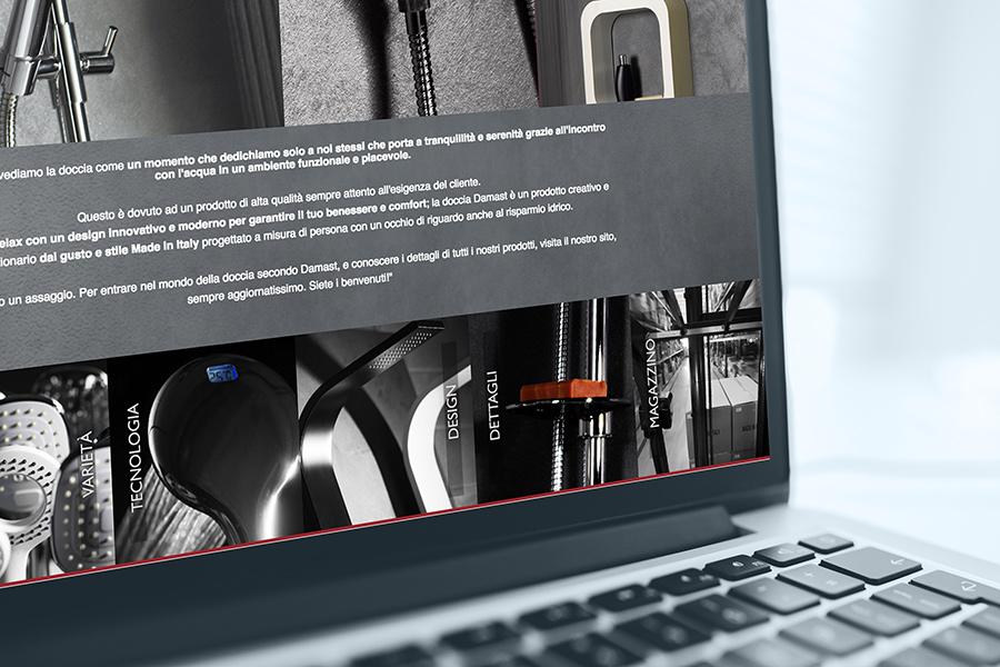 Online il nuovo sito Damast. Sistemi funzionali per la doccia in un click.