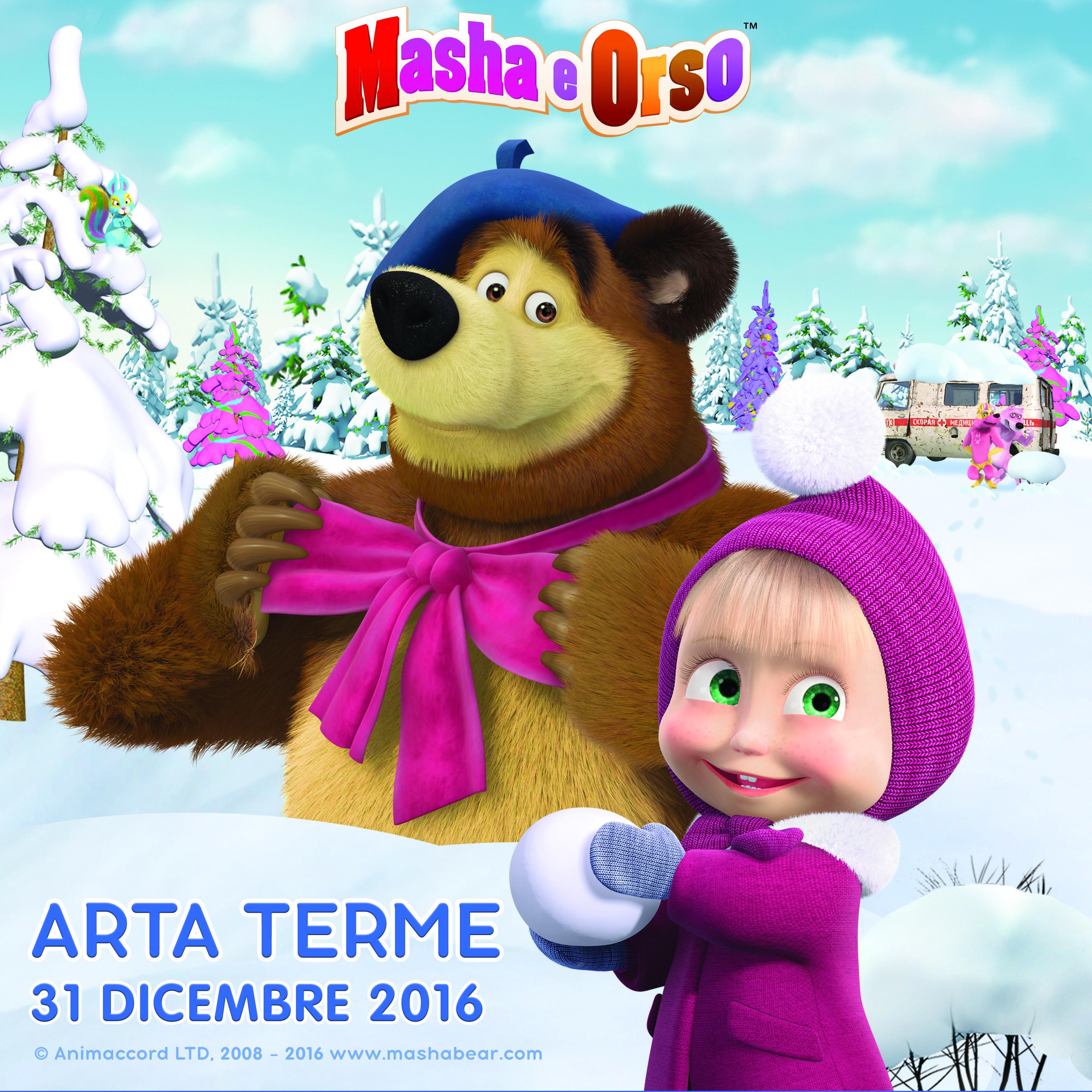 Capodanno in carnia con masha e orso due eventi per tutta